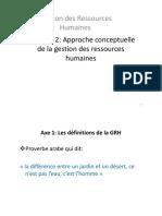 Approche conceptuelle de la GRH PDF