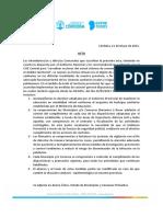 Acta acuerdo de la Provincia y municipios para adherir al DNU presidencial