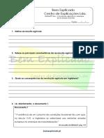 C.1 - A revolução agrícola e o arranque da revolução industria - Teste Diagnóstico (1)