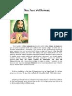 Oración de San Juan del Retorno