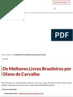Os Melhores Livros Brasileiros Por Olavo de Carvalho - Contra Os Acadêmicos