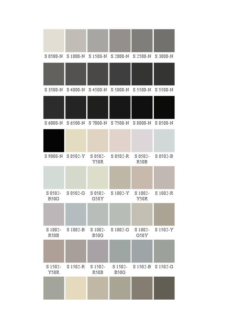 colori ncs. Black Bedroom Furniture Sets. Home Design Ideas