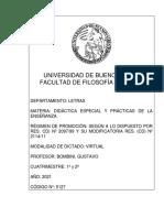 5127 DIDÁCTICA ESPECIAL Y PRÁCTICAS BOMBINI
