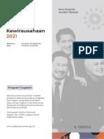 Booklet Beasiswa Kewirausahaan Tahun 2021