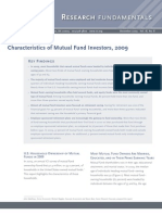 ICI Characteristics of Mutual Funds Investors