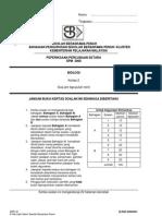 SPM Percubaan 2008 SBP Biology Paper 2
