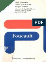 Foucault M Discurso y Verdad en La Antigua Grecia 1983