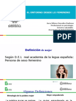 PRESENTACION ENTORNO DESDE LO FEMENINO