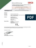 1.2 DECLARACION DE CONFORMIDAD BASCULA SECA 874
