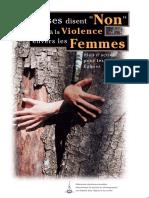 Les Eglises Disent Non a La Violence Envers Les Femmes(1)
