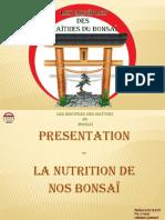 PRESENTATION LA NUTRITION 1ère PARTIE