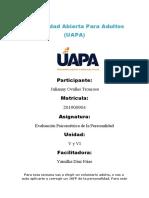 Tarea 5 y 6  EVAUACIÓN PSICOMÉTRICA DE LA PERSONALIDAD