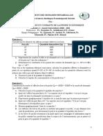TD N°2 MODELES ET COURANTS DE LA PENSEE ECONOMIQUE (1)