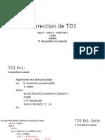 Correction TD1 AlgoII 2020 2021