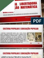 PEDAGOGIA LIBERTADORA   E EDUCAÇÃO MATEMÁTICA CRÍTICA