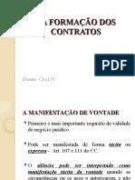 Formação dos contratos.  Proposta