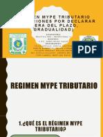 Régimen Mype Tributario (Infracciones por declarar fuera