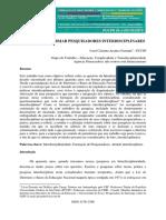 O desafio de formar pesquisadores interdisciplinares Ivani Educere 2015
