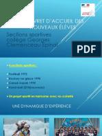 LIVRET d'Accueil Des Nouveaux Élèves SECTIONS 2019-2020
