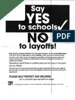 Union Leaflet for Parents