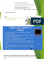 CLASE DE SEPARAR PALABRAS EN SILABA.