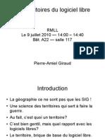 RMLL 2010 - Les Territoires du logiciel libre
