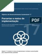Sustainable Development Goal 17_ Parcerias e meios de implementação _ As Nações Unidas no Brasil