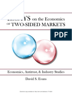 Essays on the Economics of Two-Sided Markets- Economics, Antitrust and Strategy