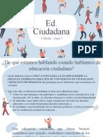 3°M Educación Ciudadana - Clase 1