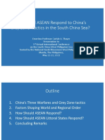 """Thayer, How Should ASEAN Respond to China's 'Grey Zone' Tactics in the South China Sea?"""""""