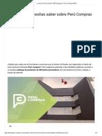 ≫ ¿Qué es Perú Compras_ ? Requisitos【 Perú Compras 2021】