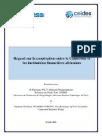 Regard Sur La Coopération Entre Le Cameroun Et Les Institutions Financières