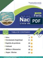 Precios Primera Feria Nacional