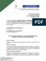 PROYECTO DE LEY APUESTAS DEPORTIVAS