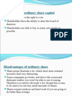 Advantages of ordinary share capital