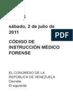 Ley de Instruccion Medico Forense