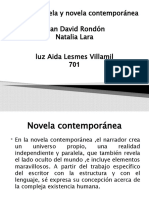 Primera Novela y Novela Contemporánea