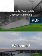 Community Plan Update Checkpoint Meeting