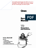 Onan Service Manual YD Generators and Controls 900-0184