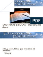 DOUTRINAS BÍBLICAS DOUTRINA DE DEUS