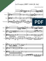 18) Suite No 3 in D major, BWV 1068 (II Air) Arreglada - Partitura completa