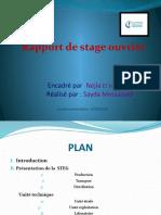 presentation stage technicien