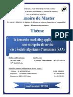 Memoire de Fin d'Etude La Demarche Marketing Appliqué Dans
