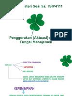 Materi_Sesi 5a_ISIP4111_Aktuasi sebagai Fungsi Manajemen
