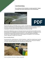 Virtuelle Wasserverschwendung DW 2018