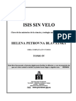 Blavatsky, H P - Isis Sin Velo 4