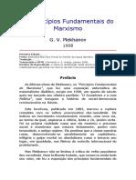 G. V. Plekhanov - Os Princípios Fundamentais do Marxismo (1908)