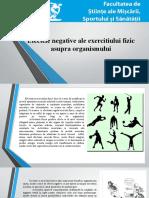 EfecteleNegativeAleExercitiuluiFizicAsupraOrganismului