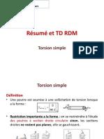 Résumé et TD RDM Torsion