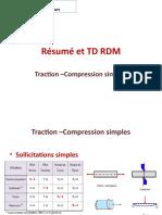 Résumé et TD RDM Traction